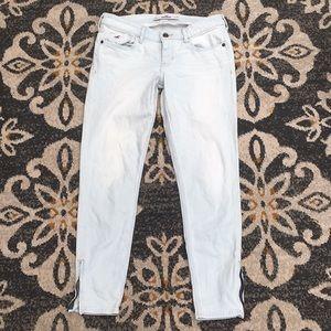 Hollister Zipper Whitish Pants